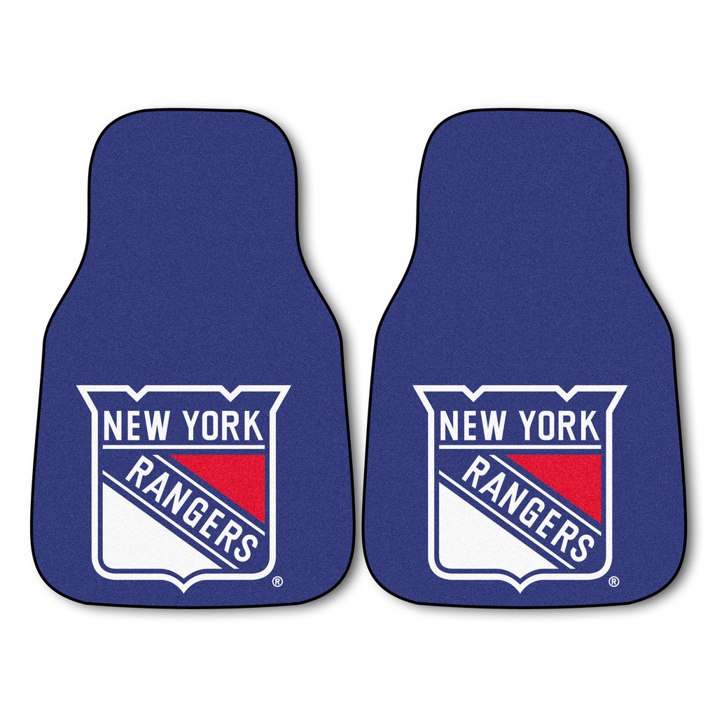"NHL - New York Rangers 2-pc Carpet Car Mat Set 17""x27"""