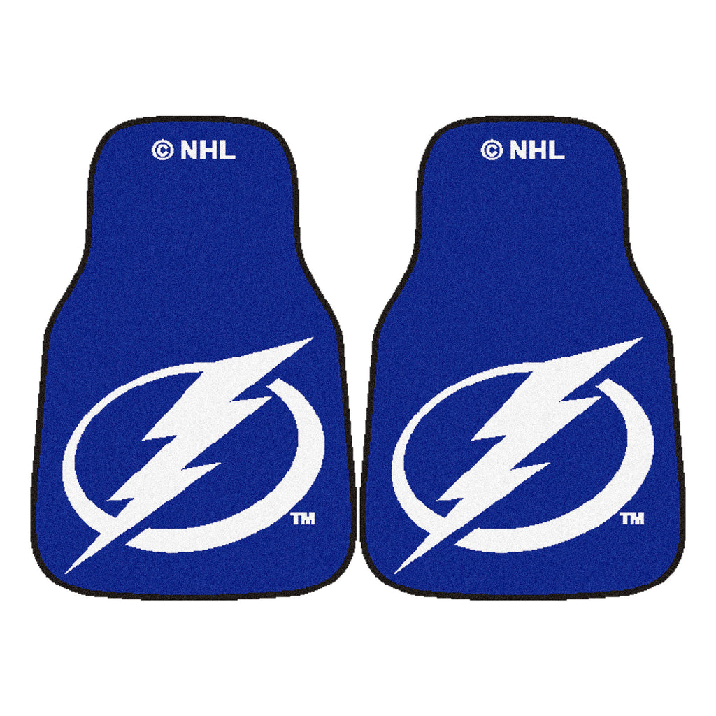 "NHL - Tampa Bay Lightning 2-pc Carpet Car Mat Set 17""x27"""