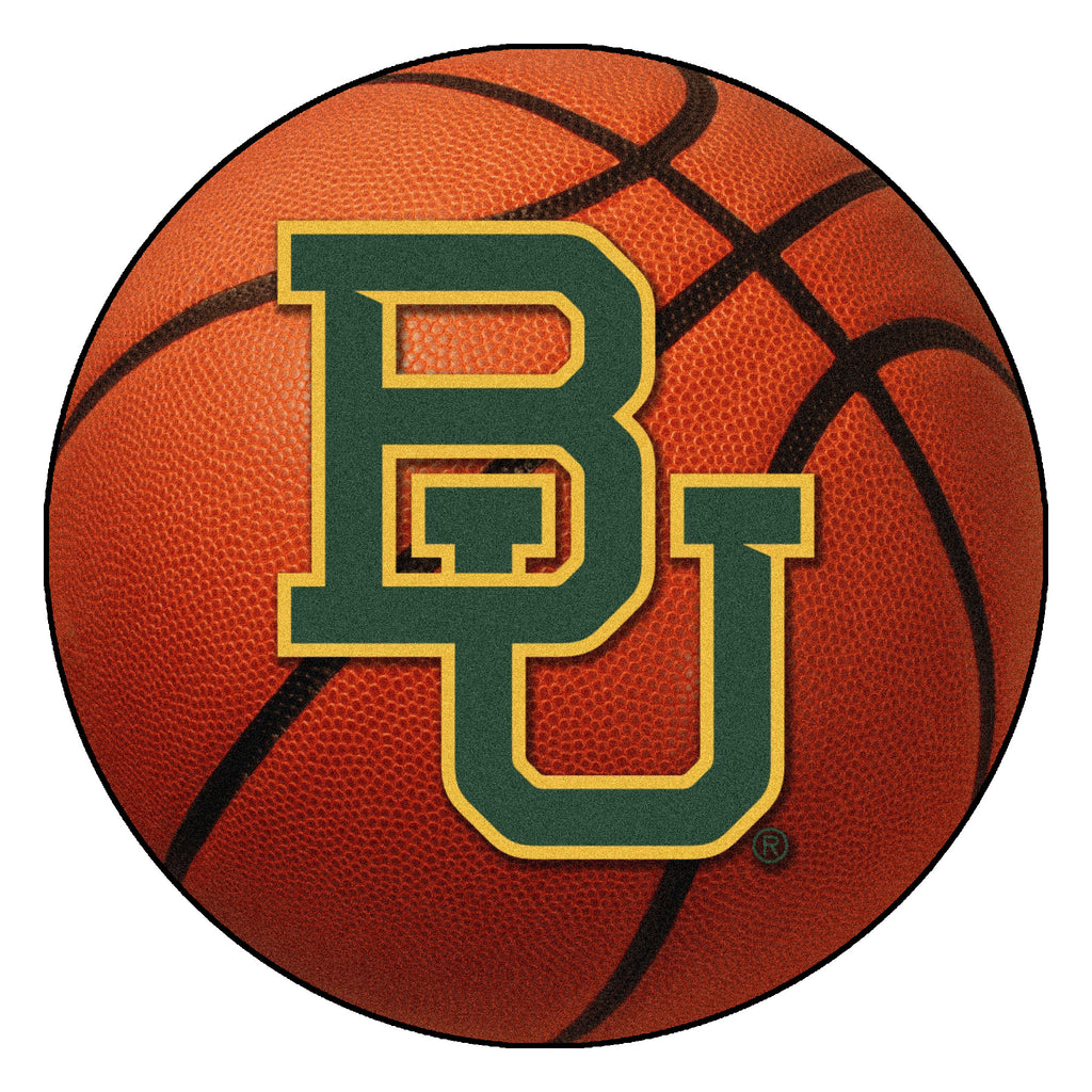 "Baylor University Basketball Mat 27"" diameter"