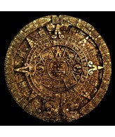 "Aztec Maya Calendar 13"" (gold finish)"