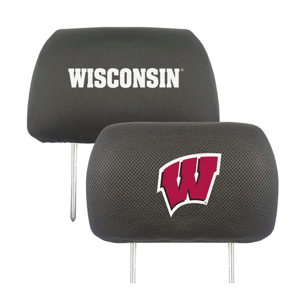 "University of Wisconsin Head Rest Cover 10""x13"""