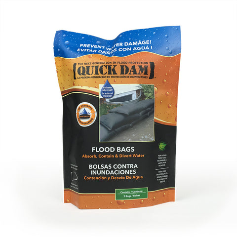 "Quick Dam Flood Bags 12"" x 24"" Pack of 6"