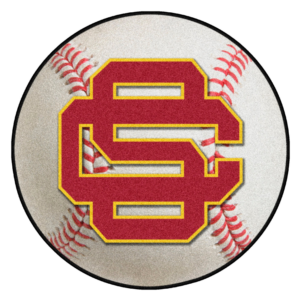 "University of Southern California Baseball Mat 27"" diameter"""