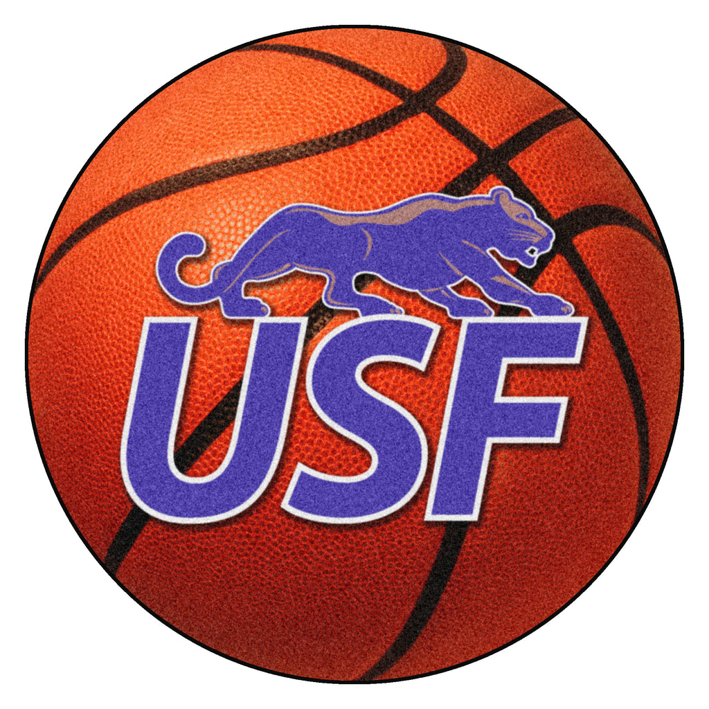 "University of Sioux Falls Basketball Mat 27"" diameter"