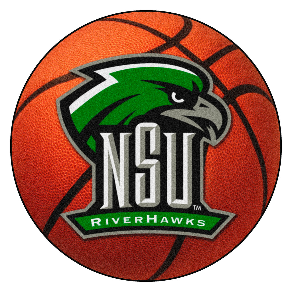 "Northeastern State University Basketball Mat 27"" diameter"""