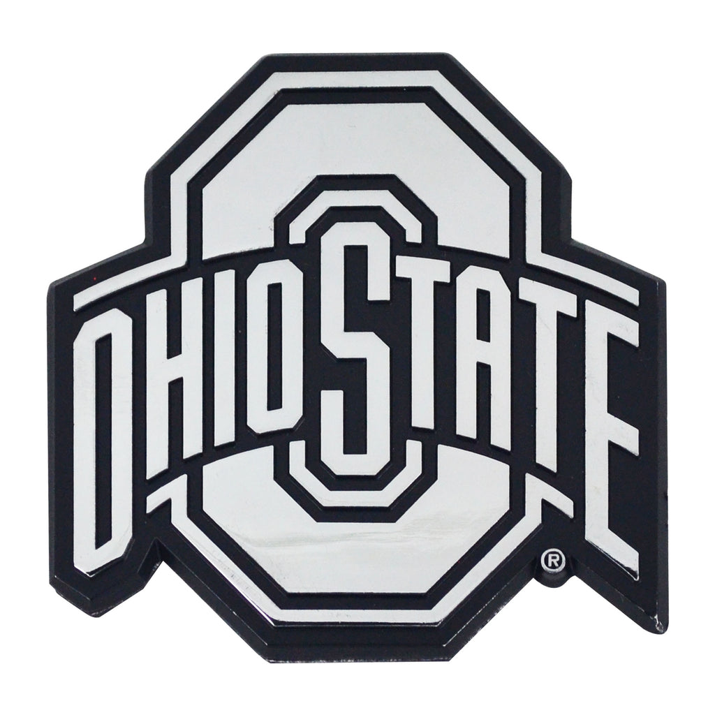 "Ohio State University Chrome Emblem 3""x3.2"""