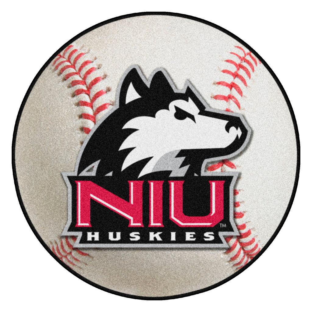"Northern Illinois University Baseball Mat 27"" diameter"""