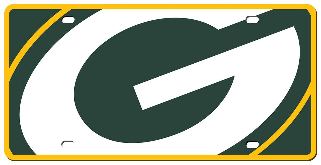 Green Bay Packers License Plate - Acrylic Mega Style