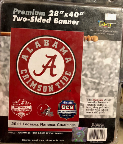 Alabama Crimson Tide Flag 3x5 BSI 2012 National Champ