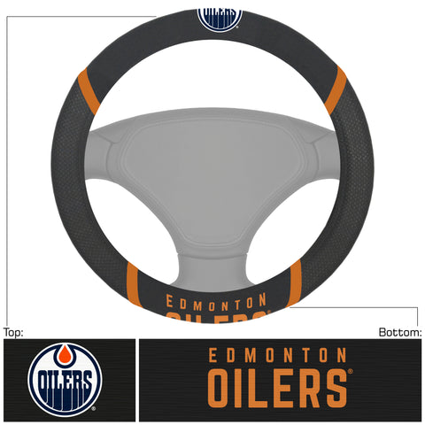 "NHL - Edmonton Oilers Steering Wheel Cover 15""x15"""