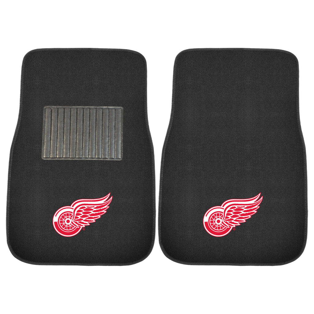 "NHL - Detroit Red Wings 2-pc Embroidered Car Mat Set 17""x25.5"""