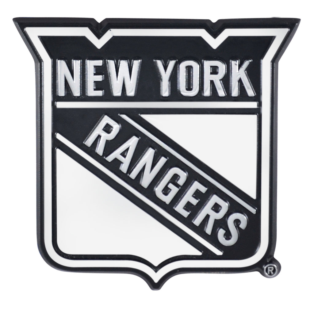 "NHL - New York Rangers Chrome Emblem 3""x3.2"""