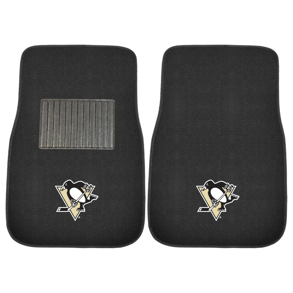 "NHL - Pittsburgh Penguins 2-pc Embroidered Car Mat Set 17""x25.5"""