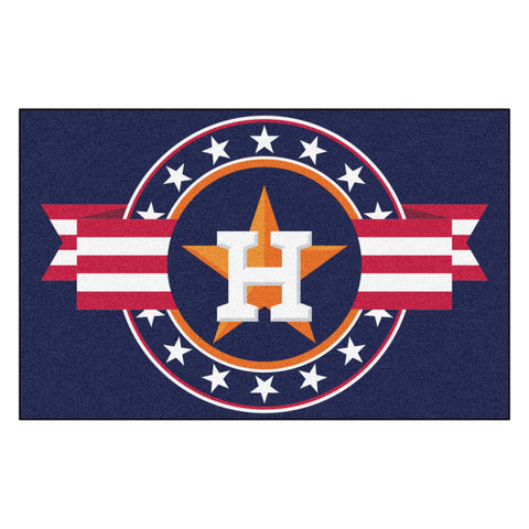 "MLB - Houston Astros Starter Mat - MLB Patriotic 19""x30"""