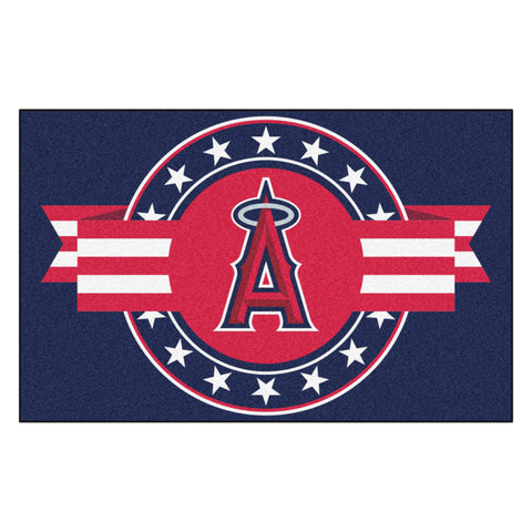 "MLB - Los Angeles Angels Starter Mat - MLB Patriotic 19""x30"""