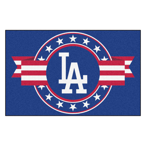 "MLB - Los Angeles Dodgers Starter Mat - MLB Patriotic 19""x30"""
