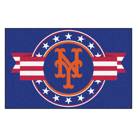 "MLB - New York Mets Starter Mat - MLB Patriotic 19""x30"""