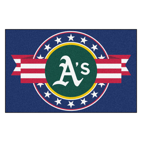 "MLB - Oakland Athletics Starter Mat - MLB Patriotic 19""x30"""