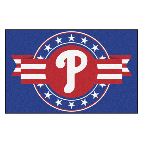 "MLB - Philadelphia Phillies Starter Mat - MLB Patriotic 19""x30"""