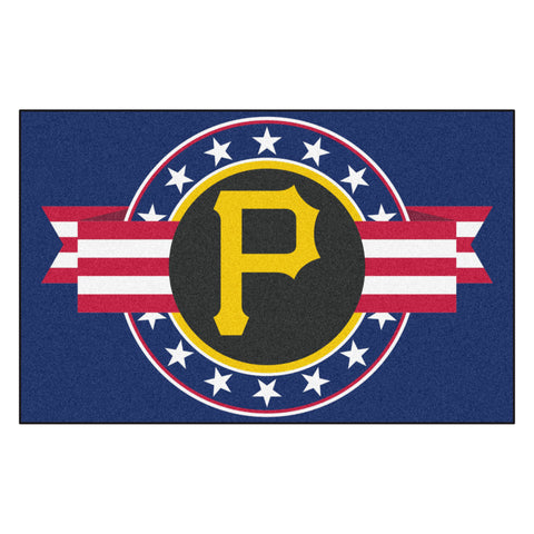 "MLB - Pittsburgh Pirates Starter Mat - MLB Patriotic 19""x30"""