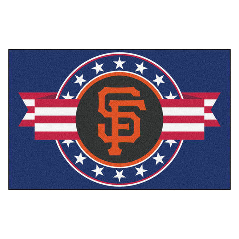 "MLB - San Francisco Giants Starter Mat - MLB Patriotic 19""x30"""
