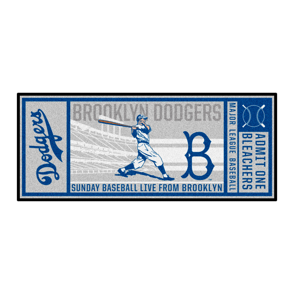 Retro Collection - 1949 Brooklyn Dodgers Ticket Runner