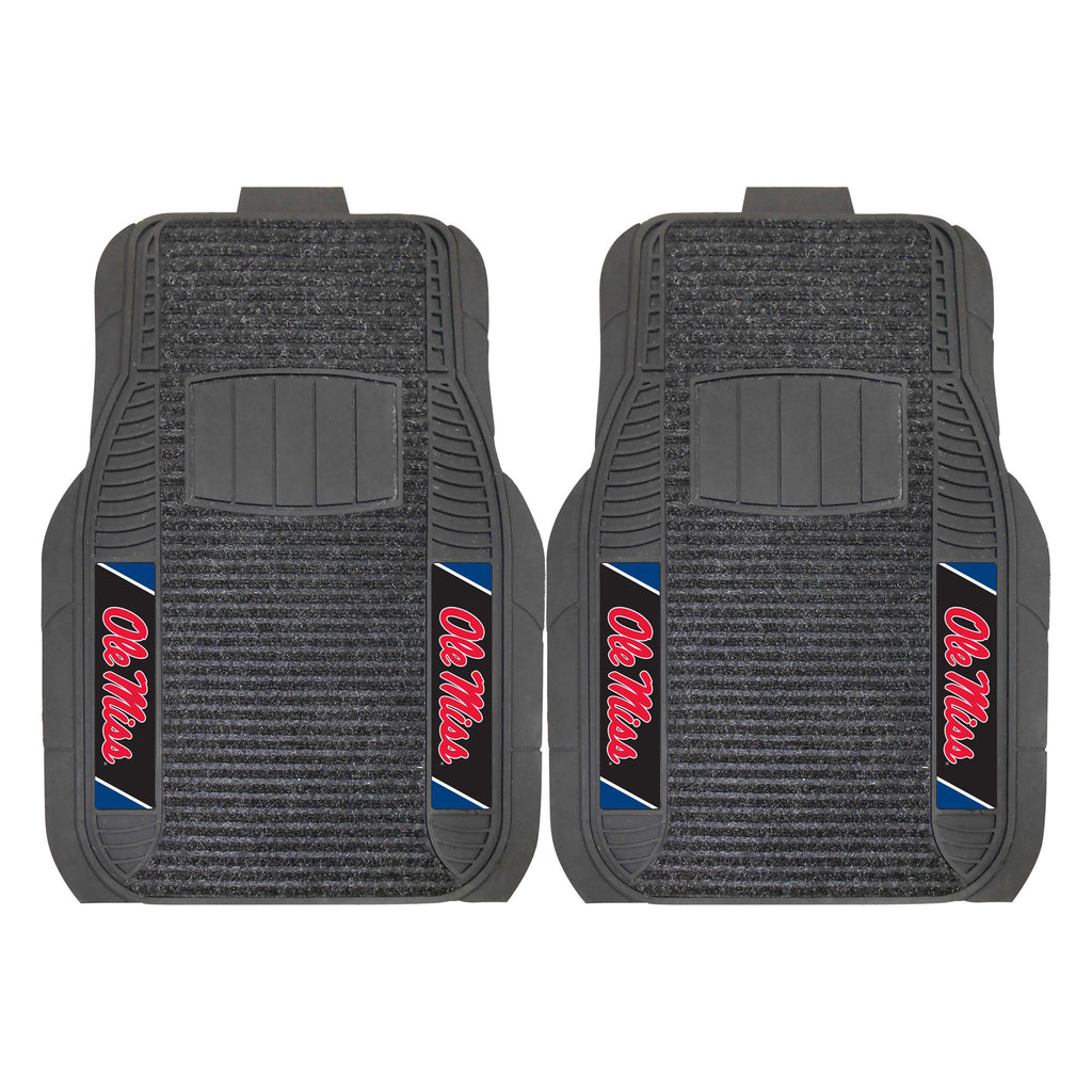 "University of Mississippi (Ole Miss) 2-pc Deluxe Car Mat Set 21""x27"""