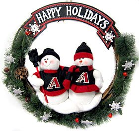 Arizona Diamondbacks Wreath 20 Inch Snowman -
