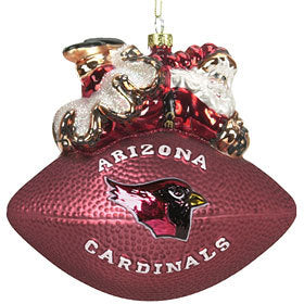 Arizona Cardinals Ornament 5 1/2 Inch Peggy Abrams Glass Football