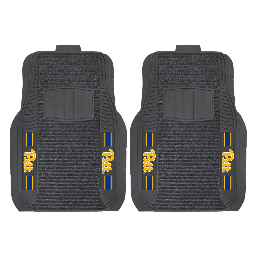 "University of Pittsburgh 2-pc Deluxe Car Mat Set 21""x27"""