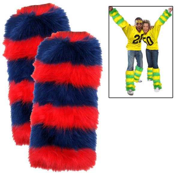 Leg Warmers 2 Pack - Royal Blue/Red