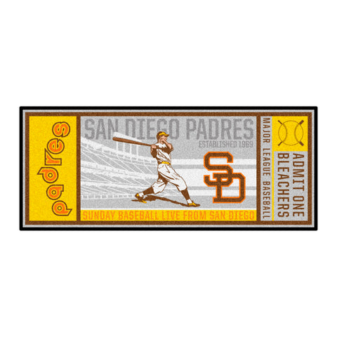 Retro Collection - 1969 San Diego Padres Ticket Runner