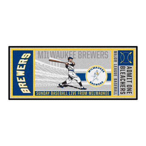 Retro Collection - 1970 Milwaukee Brewers Ticket Runner