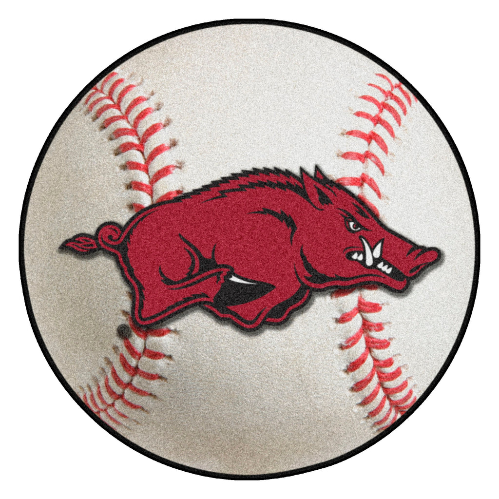 "University of Arkansas Baseball Mat 27"" diameter"
