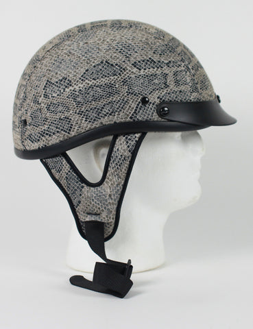 DOT Crocodile Fabric Motorcycle Helmet
