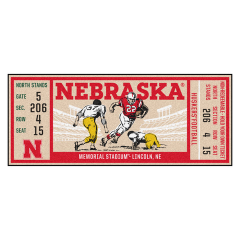 "University of Nebraska Ticket Runner 30""x72"""