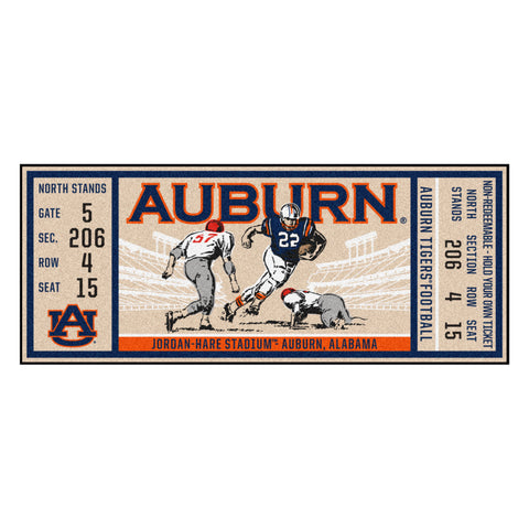 "Auburn  Ticket Runner 30""x72"""