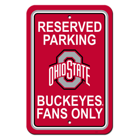 Ohio State Buckeyes Sign - Plastic - Reserved Parking - 12 in x 18 in