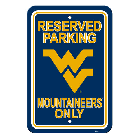 West Virginia Mountaineers Sign - Plastic - Reserved Parking - 12 in x 18 in - Special Order