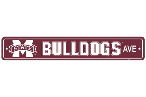 Mississippi State Bulldogs Sign 4x24 Plastic Street Style - Special Order