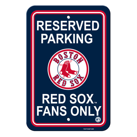 Boston Red Sox Sign - Plastic - Reserved Parking - 12 in x 18 in