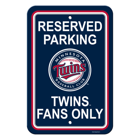 Minnesota Twins Sign - Plastic - Reserved Parking - 12 in x 18 in - Special Order