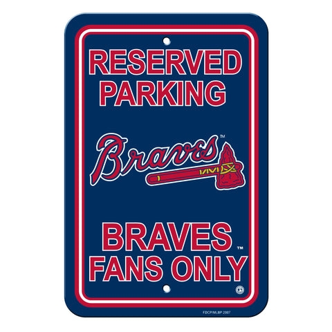 Atlanta Braves Sign - Plastic - Reserved Parking - 12 in x 18 in