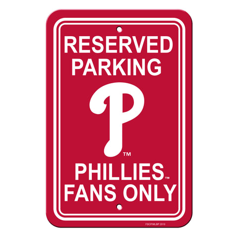 Philadelphia Phillies Sign - Plastic - Reserved Parking - 12 in x 18 in - Special Order
