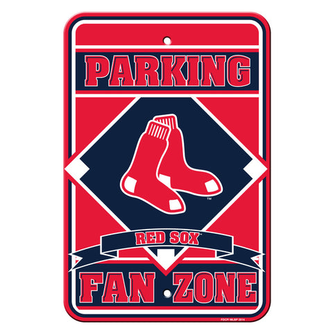 Boston Red Sox Sign - Plastic - Fan Zone Parking - 12 in x 18 in - Special Order