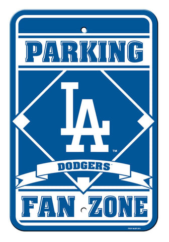 Los Angeles Dodgers Sign 12x18 Plastic Fan Zone Parking Style