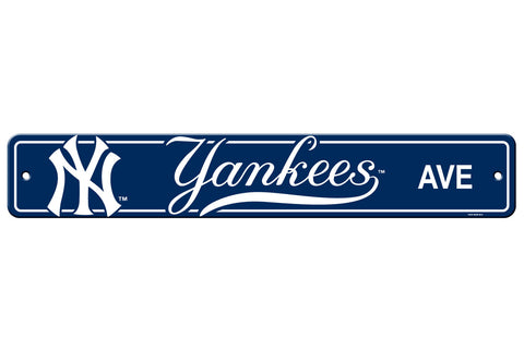 New York Yankees Sign 4x24 Plastic Street Style - Special Order