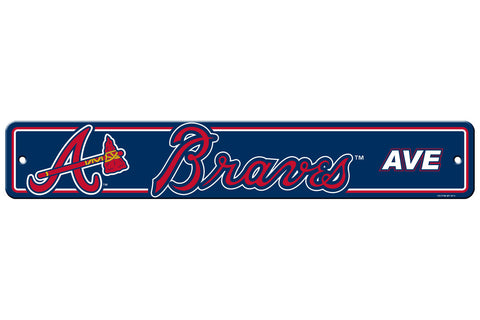 Atlanta Braves Sign 4x24 Plastic Street Style - Special Order