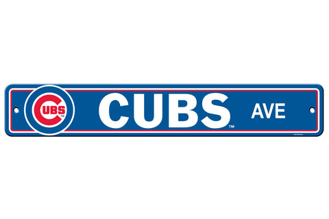 Chicago Cubs Sign 4x24 Plastic Street Style