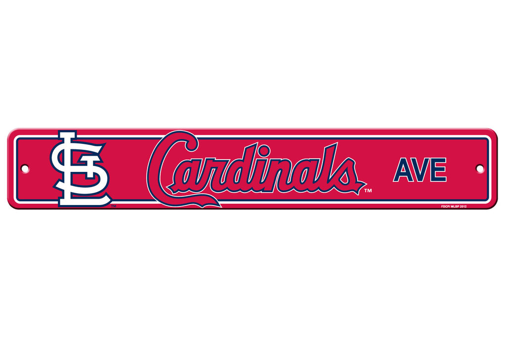 St. Louis Cardinals Sign 4x24 Plastic Street Style - Special Order